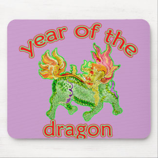 Chinese Year of the Dragon Illustration Mouse Pad
