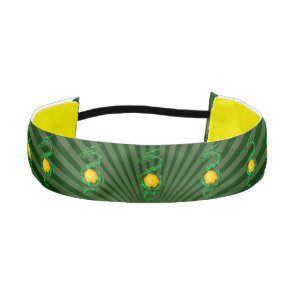 Chinese Year of the Dragon Jade Green Athletic Headband