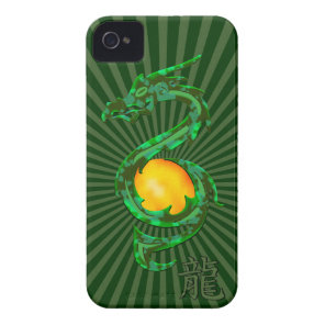 Chinese Year of the Dragon Jade Green Case-Mate iPhone 4 Case