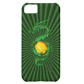 Chinese Year of the Dragon Jade Green Cover For iPhone 5C