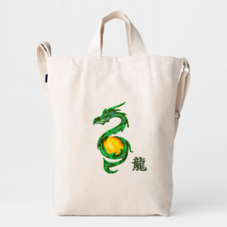 Chinese Year of the Dragon Jade Green Duck Bag