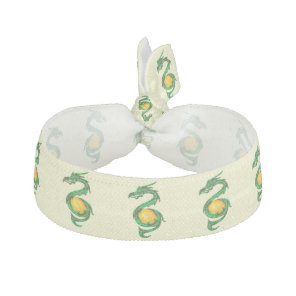 Chinese Year of the Dragon Jade Green Elastic Hair Tie