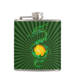 Chinese Year of the Dragon Jade Green Flask