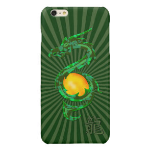 Chinese Year of the Dragon Jade Green Glossy iPhone 6 Plus Case