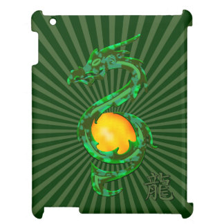 Chinese Year of the Dragon Jade Green iPad Cases