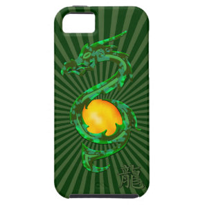 Chinese Year of the Dragon Jade Green iPhone SE/5/5s Case