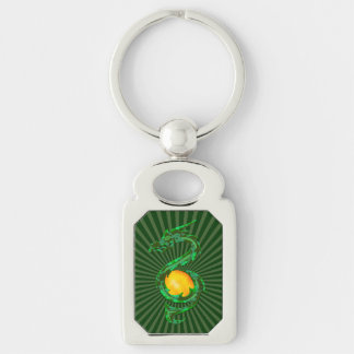 Chinese Year of the Dragon Jade Green Keychain