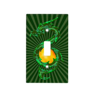Chinese Year of the Dragon Jade Green Light Switch Cover