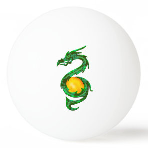 Chinese Year of the Dragon Jade Green Ping-Pong Ball