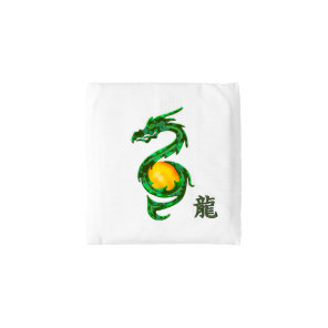Chinese Year of the Dragon Jade Green Reusable Bag