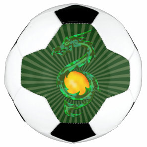 Chinese Year of the Dragon Jade Green Soccer Ball