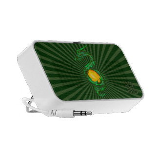 Chinese Year of the Dragon Jade Green Travelling Speaker