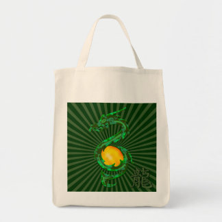Chinese Year of the Dragon Jade Green Tote Bag