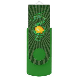 Chinese Year of the Dragon Jade Green USB Flash Drive