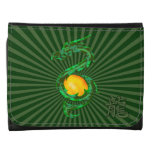 Chinese Year of the Dragon Jade Green Wallets