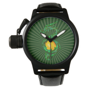 Chinese Year of the Dragon Jade Green Watch