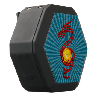 Chinese Year of the Dragon Metalic Red Black Bluetooth Speaker