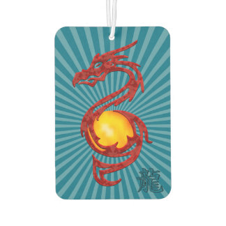 Chinese Year of the Dragon Metalic Red Car Air Freshener