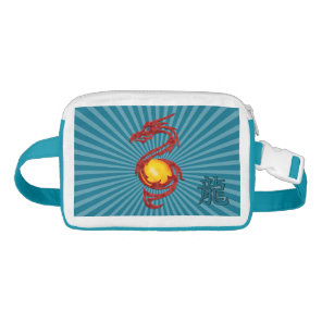 Chinese Year of the Dragon Metalic Red Fanny Pack