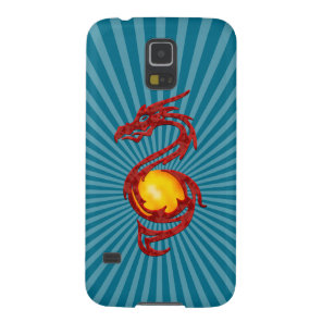 Chinese Year of the Dragon Metalic Red Galaxy S5 Cover