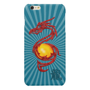 Chinese Year of the Dragon Metalic Red Glossy iPhone 6 Plus Case