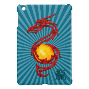 Chinese Year of the Dragon Metalic Red iPad Mini Cover