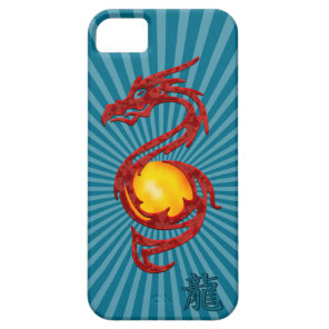 Chinese Year of the Dragon Metalic Red iPhone SE/5/5s Case