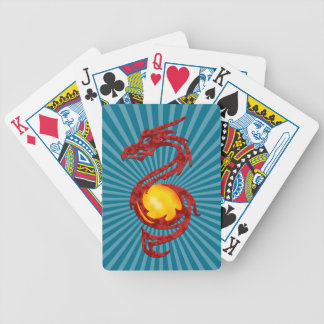 Chinese Year of the Dragon Metalic Red Card Decks