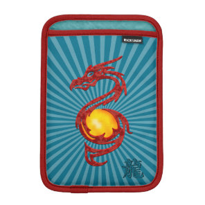 Chinese Year of the Dragon Metalic Red Sleeve For iPad Mini
