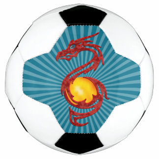 Chinese Year of the Dragon Metalic Red Soccer Ball