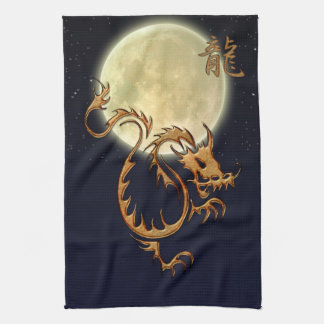Chinese Year of the Dragon & Moon Asian Towels