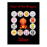 Chinese Year of the Dragon New Year Postcard