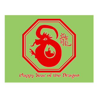 Chinese Year of the Dragon Tshirts, Gifts Postcard