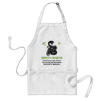 Chinese Year of The Earth Snake 1989 Adult Apron