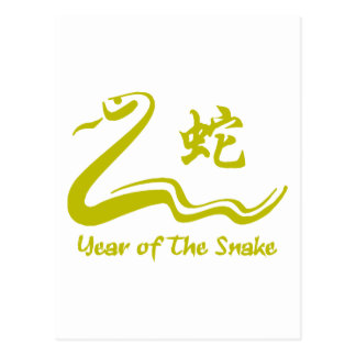 Chinese Year of The Earth Snake 1989 Postcard