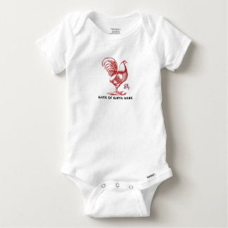 Chinese Year of The Fire Rooster Baby Onesie