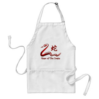Chinese Year of The Fire Snake 1977 Adult Apron