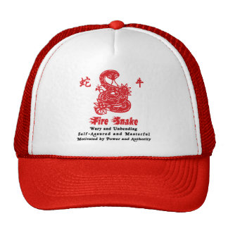 Chinese Year of The Fire Snake 1977 Trucker Hat