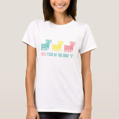 Chinese Year Of The Goat Fun Gift T-shirts at Zazzle