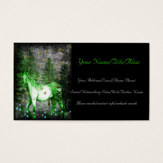 Chinese Year Of The Green Horse Business Card