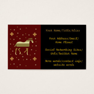 Chinese Year Of The Horse Business Card