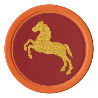 Chinese Year Of The Horse Ceramic Coin Tokens Set Of Poker Chips at Zazzle