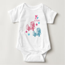 Chinese Year of the Horse Fun Infant Creeper