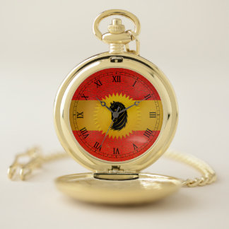 Chinese Year of the Horse with Roman Numerals Pocket Watch