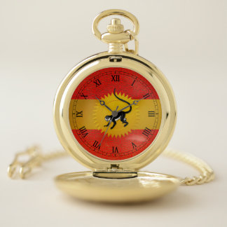 Chinese Year of the Monkey with Roman Numerals Pocket Watch
