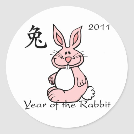 Chinese Year of the Rabbit 2011 Stickers