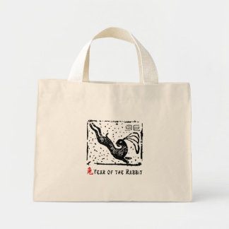 Chinese Year of The Rabbit Canvas Bags