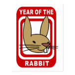Chinese Year of The Rabbit Gift Post Cards