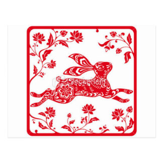 Chinese year of the Rabbit Postcard