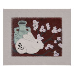 Chinese Year of the Rabbit Poster Print